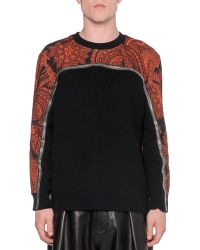Givenchy Paisley-print Zippered Knit Sweater - Lyst
