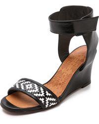 Chie Mihara Rupas Wedge Sandals - Black - Lyst