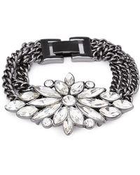 Forever 21 Faux Gem Flower Bracelet - Lyst