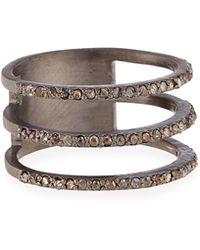 Siena Jewelry - Triple Row Diamond Ring - Lyst