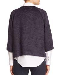 Piazza Sempione Llama Wool And Wool Coat - Lyst