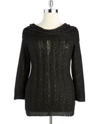 Anne Klein Plus Cowl Neck Sweater - Lyst