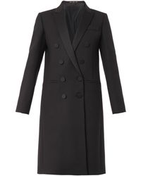 Gucci Satin-lapel Double-breasted Coat - Lyst