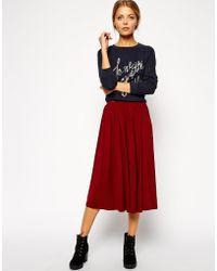 Asos Full Midi Skirt - Lyst