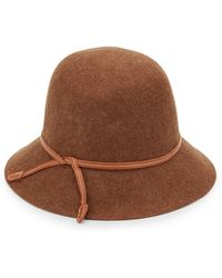Saks Fifth Avenue Black Label Felted Wool Crusher Hat - Brown