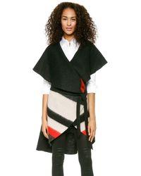 Alice + Olivia Alice Olivia Keira Striped Vest Black Multi Stripe - Lyst