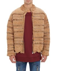 Hood By Air - Laced & Zippered Suede Jacket - Lyst