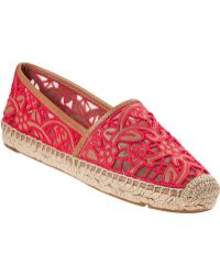 Tory Burch Lucia Flat Espadrille Natural Leather - Lyst
