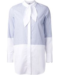 Adam Lippes Half Striped Shirt - Lyst