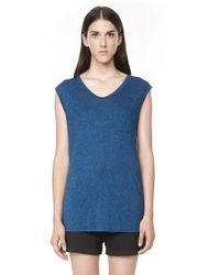 Alexander Wang Classic Muscle Tee with Pocket - Lyst