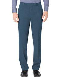 Calvin Klein Dylan Regular Fit Flat Front Pants - Lyst