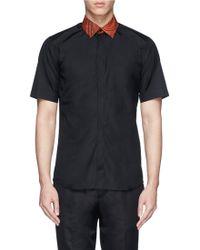 Givenchy Floral Paisley Print Collar Shirt - Lyst