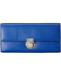 Fossil Riley Large Flap blue - Lyst
