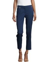 Michael Kors Zipper-Waist Ankle Pants - Lyst