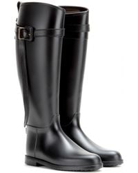 Burberry Brit Belted Rubber Rain Boots - Lyst