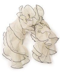 Ralph Lauren Ruffled Silk Organza Scarf - Lyst