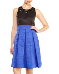 Eliza J Embellished Faille Fit & Flare Dress - Lyst