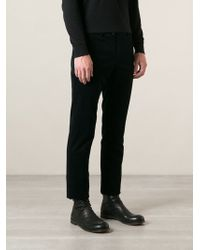 Lanvin Blue Ribbed Trousers - Lyst