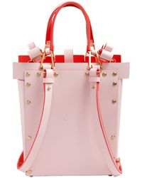 Niels Peeraer - Double Bow Buckle Leather Backpack - Lyst