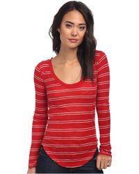 Free People Yarn Dye Stripe Nicest Slub Ls Layering Me Top - Lyst
