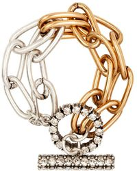 Camille K | Stella Double Chain Bracelet | Lyst