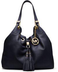 Michael Kors Camden Large Leather Shoulder Bag - Lyst