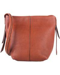 Cole Haan Lockhart Leather Crossbody Bag orange - Lyst