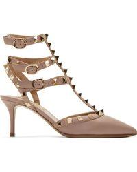 Valentino Powder Pink Rockstud Heels - Lyst