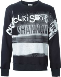 Christopher Shannon Printed Sweatshirt - Lyst