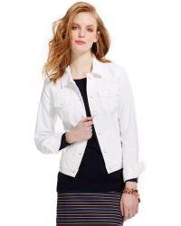 Tommy Hilfiger Classic White Denim Jacket - Lyst