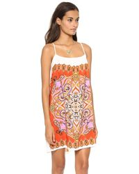 Karen Zambos Vintage Couture Ana Mini Dress Tangerine - Lyst
