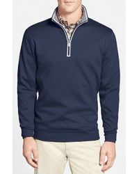 Bobby Jones Quarter Zip Pullover - Blue