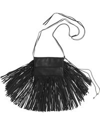 Barbara Bonner Ginger Fringed Leather Shoulder Bag black - Lyst