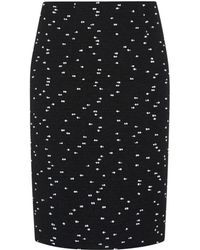 Oscar de la Renta Tweed Bouclã© Pencil Skirt - Lyst