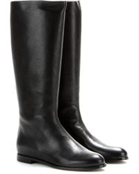 Alexander McQueen City Leather Boots - Lyst