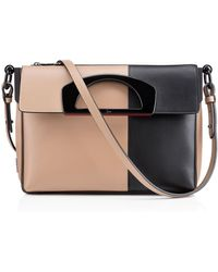 Christian Louboutin Gray Passage Messenger - Lyst