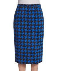 Michael Kors Houndstooth Pencil Skirt - Lyst