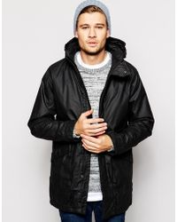 Selected Coated Parka With Hood - Lyst