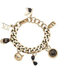 Karl Lagerfeld Womens Karl 7 Gold-tone Stainless Steel Charm Bracelet Watch 20mm - Lyst