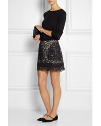 See By Chloé Cottonblend Lace Mini Skirt - Lyst