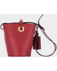 Valentino Red Leather Buckle Bag - Lyst