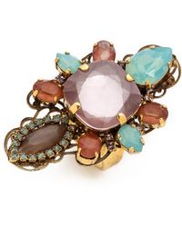 Erickson Beamon - Cosmic Code Ring Pink Multi - Lyst