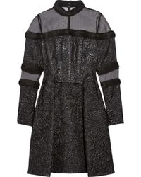 Erdem Meja Organza-paneled Jacquard Mini Dress - Lyst