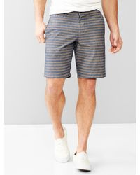 """Gap Lived-In Stripe Chambray Shorts (10"""") - Lyst"""