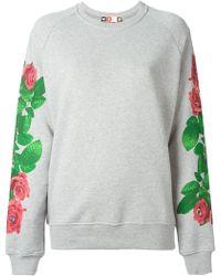 MSGM Eye Roses Print Sweatshirt - Lyst