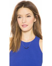 Ginette NY - Black Moon Onyx Boulier Necklace - Rose Gold/onyx - Lyst