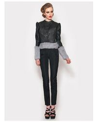 Adolfo Sanchez - Ardera Leather Puff Sleeve Jacket - Lyst