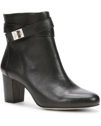 Ann Taylor Delisa Buckle Leather Booties - Black