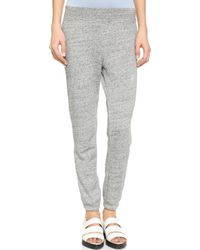 T By Alexander Wang French Terry Sweatpants - Heather Grey - Lyst