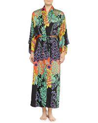 Natori Anna Mixed Floral-print Kimono Robe - Lyst